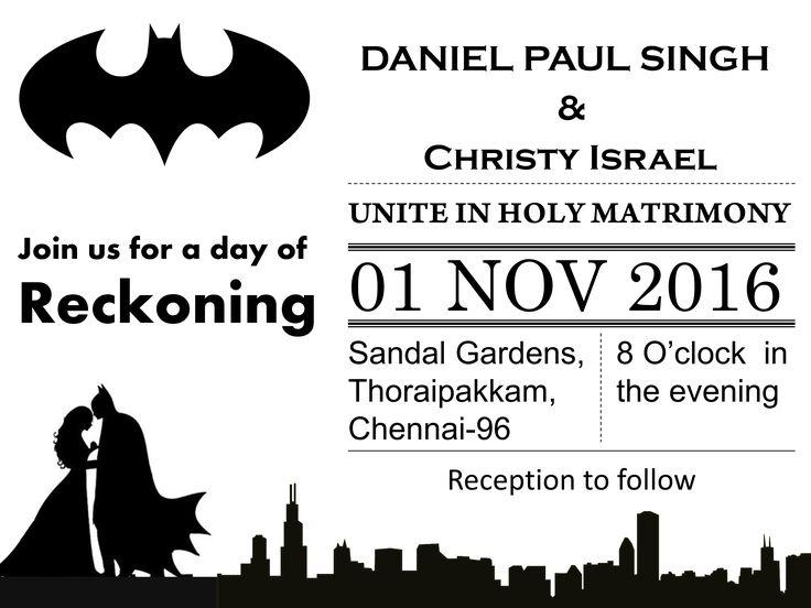 Galarena - Wedding Invitation  BATMAN  - Wedding Invitation