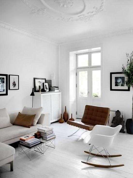 Modern design interieur in het wit