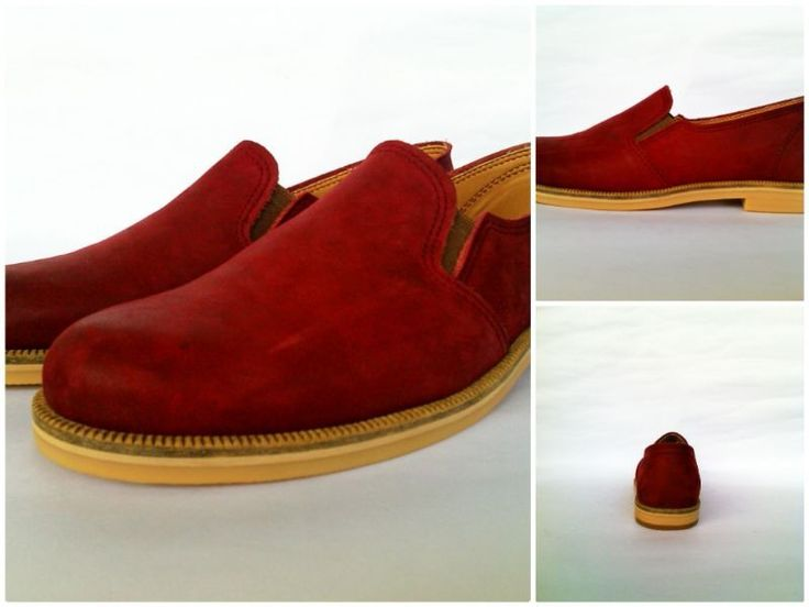 Luna slip on - Damathara shoes: Maroon Buck  Leather, Rubber sole  $50.00 Exclude shipping