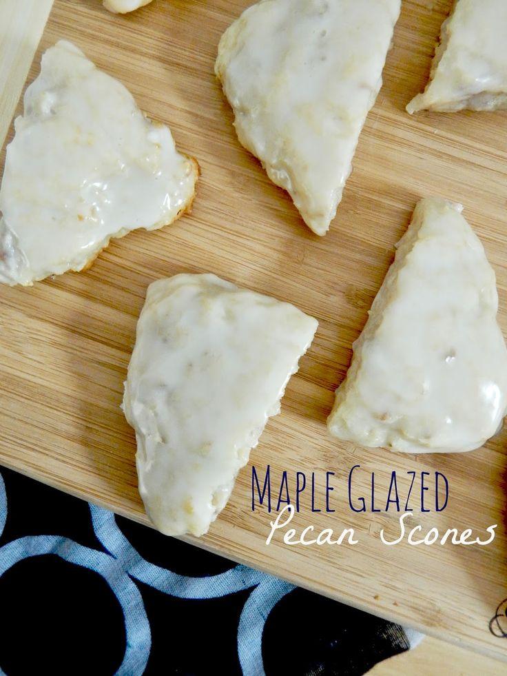 Ally's Sweet and Savory Eats: Maple Glazed Pecan Scones