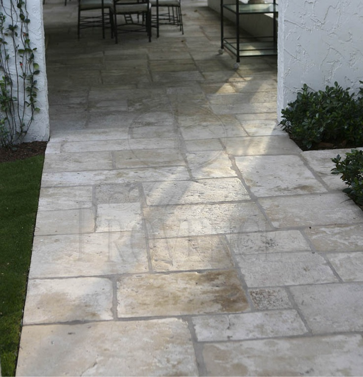 Front walkway flooring tiles and travertine on pinterest for Tile driveway