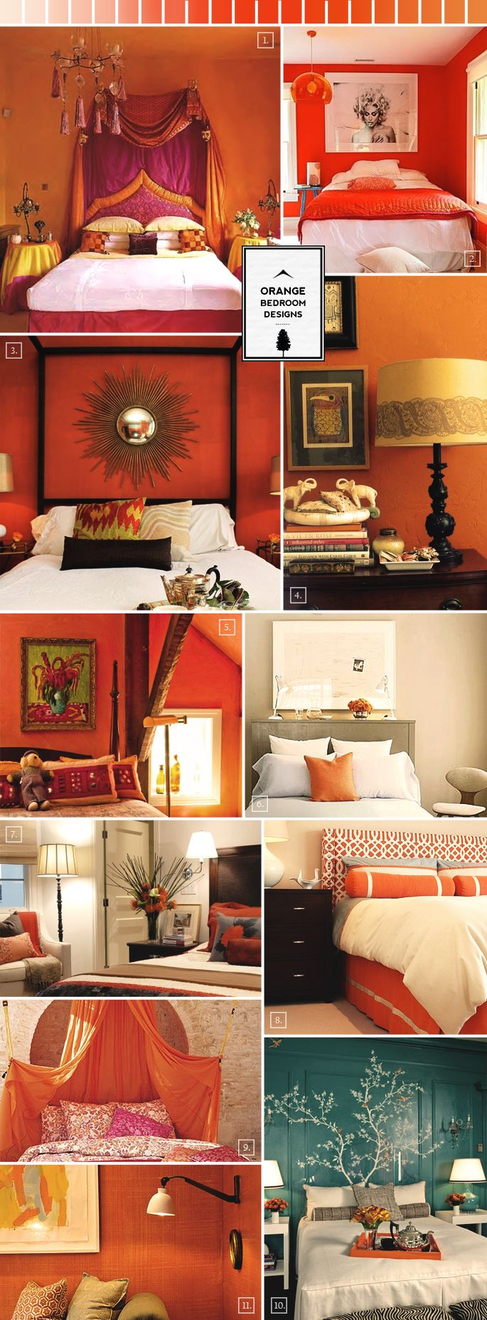 Design Tips And Pictures For Designing A Bedroom In Orange