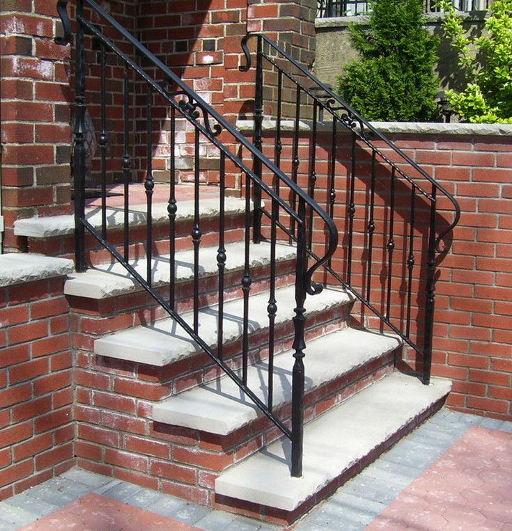 Best 25 outdoor stair railing ideas on pinterest deck - Exterior wrought iron handrails for steps ...