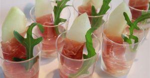 Parma en Meloen amuse - MeatCuisine