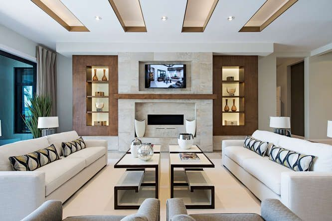 This glamorous contemporary living space was outfitted by Clive Daniel. #luxeFL