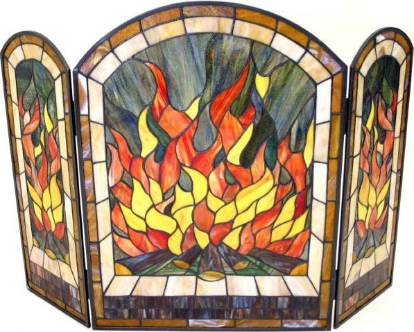 Flame Tiffany Glass Fire Screen This..will be in my house at some point..if I ever have a fireplace