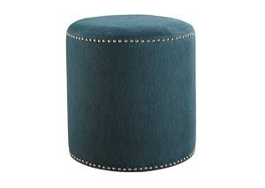 Revel Teal Accent Ottoman