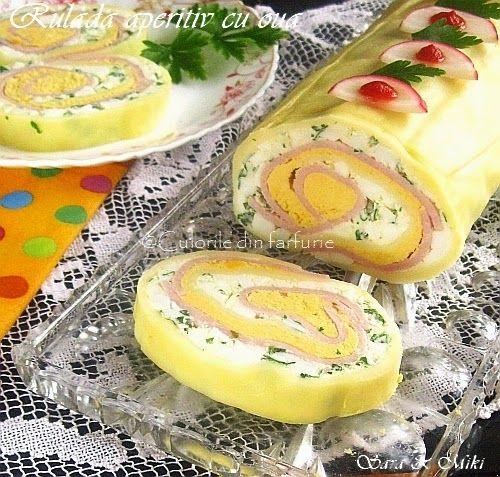 Rulada aperitiv cu oua ~ Culorile din farfurie
