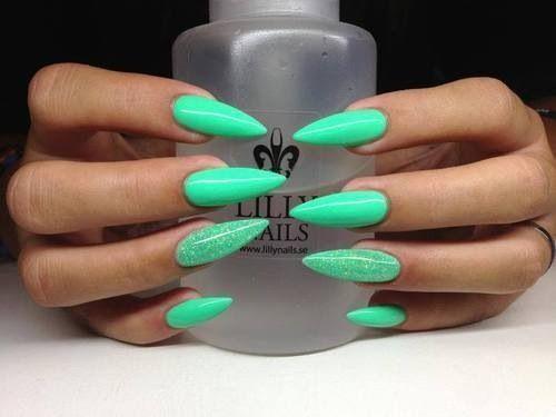 Teal Crocodile Nails