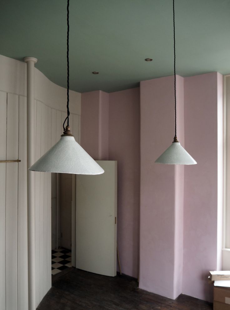 These beautiful handmade devol pendant lights have just been installed in the new showroom