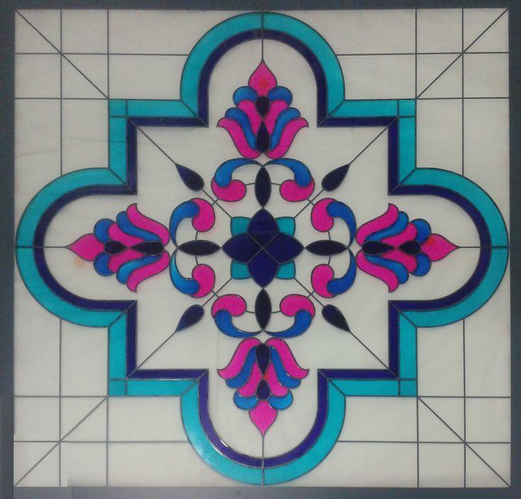 tavan aydınlatma - 100x100 cm ayna renklendirme