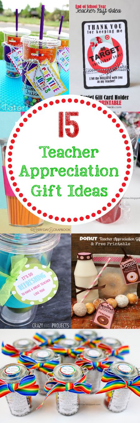 Awesome LONG post with a lot of teacher appreciation ideas, gifts, theme week...