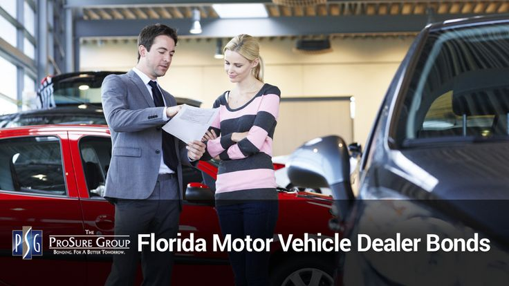The Prosure Group offers the best Florida motor vehicle dealer bonds (FL DMV bonds, used car dealer bond or auto dealer bond). We can issue or renew your bond. https://prosuregroup.com/florida-motor-vehicle-dealer-bonds/