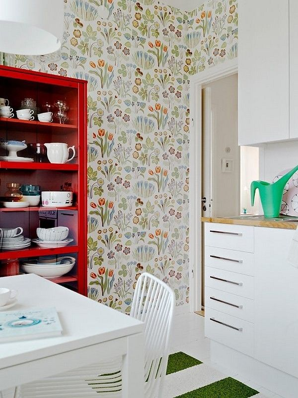 Scandinavian Wallpaper Love This Room In General