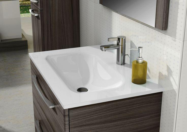 Umywalka LOKA - white. #elita #meble #elitameble #lazienka #jump #bathroom #furniture #colorful