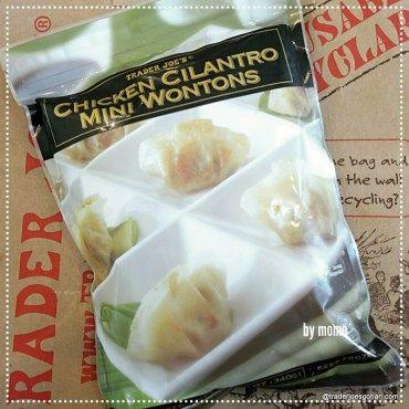 トレジョの冷凍ワンタンでスープ Trader Joe's Chicken Cilantro Mini Won Tons $2.99 | #TraderJoes #Chicken #Cilantro  #WonTons #トレーダージョーズ #冷凍ワンタン #ワンタンスープ #トレジョ