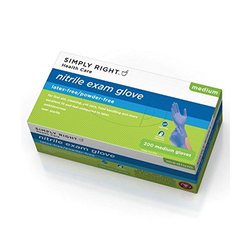 Simply Right Nitrile Gloves - 200 Ct. - Medium - These durable gloves eliminate the risk of developing latex glove related reactions  - http://buytrusts.com/giftsets/health-personal-care/simply-right-nitrile-gloves-200-ct-medium