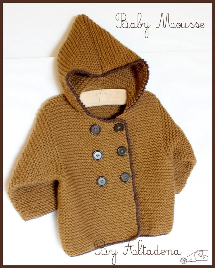Baby Mousse. In rich mustard and brown colors, this baby coat is in pure merino wool, ultra soft, snuggly and warm to bundle our little ones.
