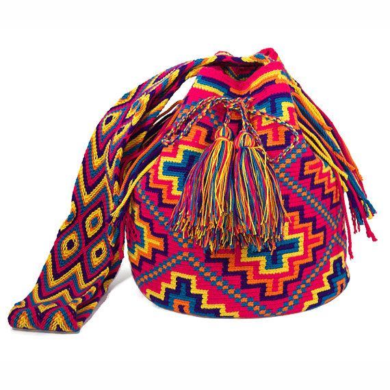 Authentic Wayuu Mochila  Handmade  Tribal by ColombianMadeShop, $150.00