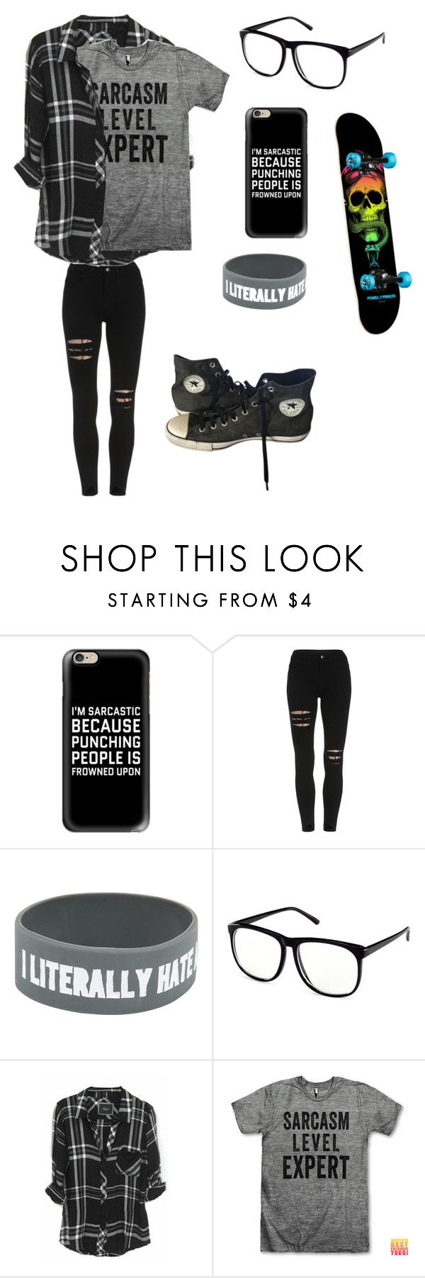 """Untitled #49"" by darksoul7 on Polyvore featuring Casetify, H&M, Rails and Converse"