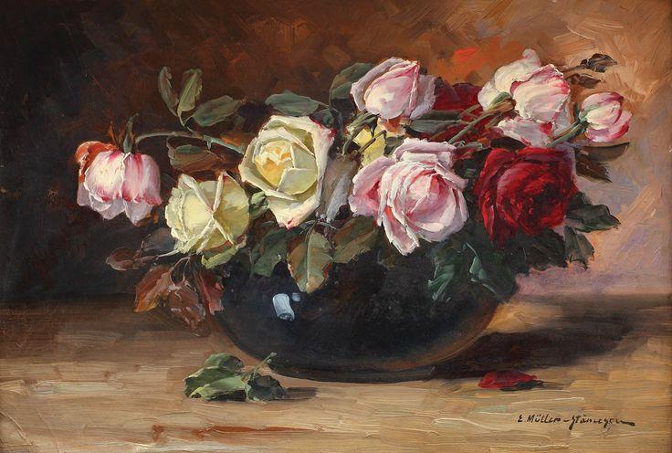Elena Muller-Stăncescu , Vas cu trandafiri