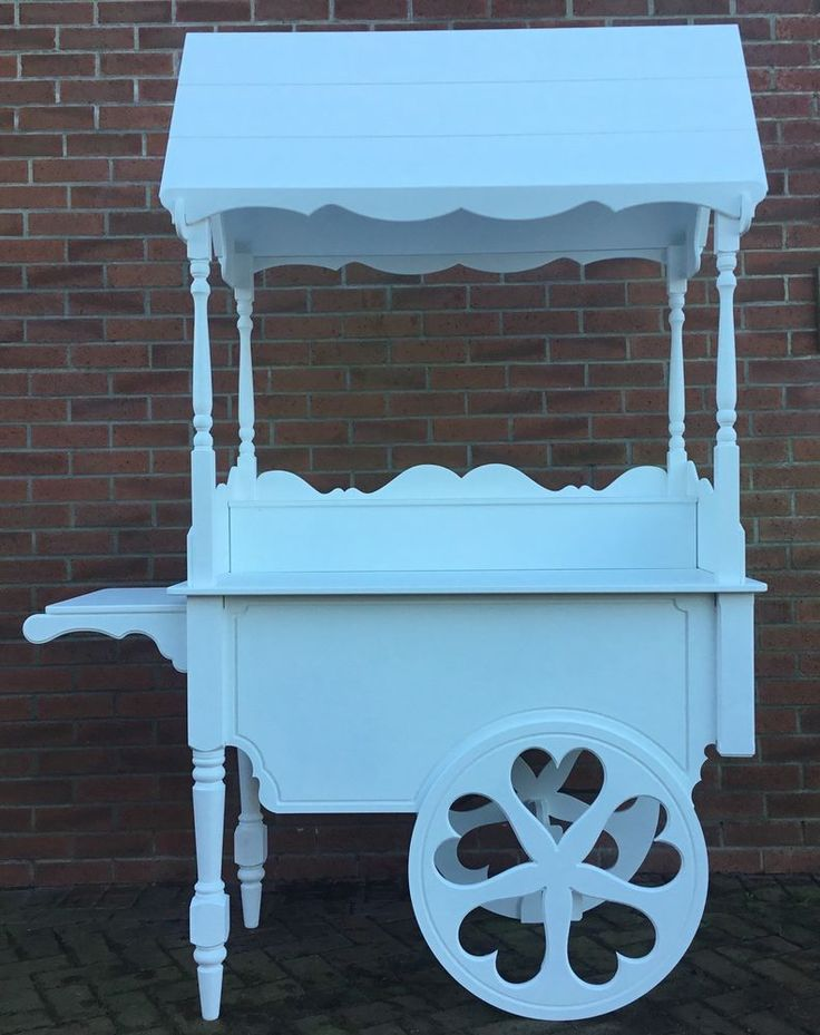 Candy Carts For Sale, Fully Collapsable Sweet Cart , Heart Wheels, Turned Legs