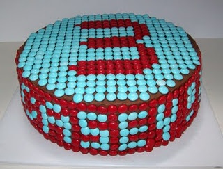 MM cake with name  age - AWESOME!