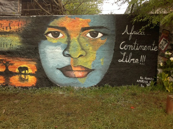 """""""África, continente libre"""" mural, creación de MZ"""