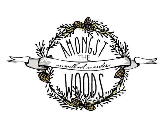 Premade Logo  Wreath Logo Woodland Logo Pine by STONESOUPDESIGN, $49.00