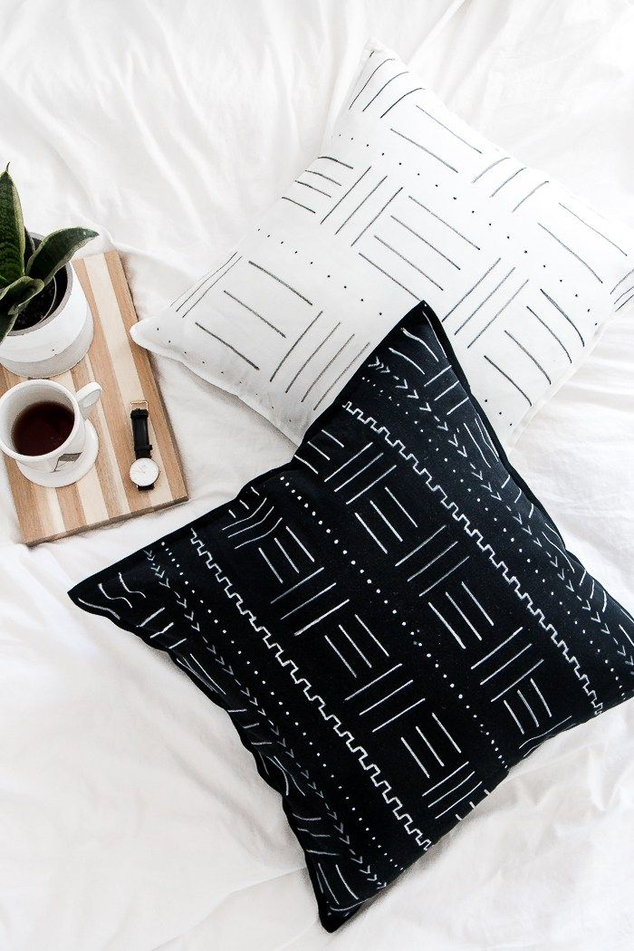 DIY Mudcloth Pillows -