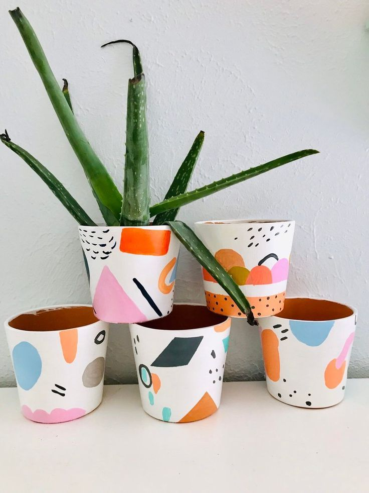 Hand Painted One Of A Kin In 2020 Painted Pots Diy Painted Plant Pots Painted Flower Pots