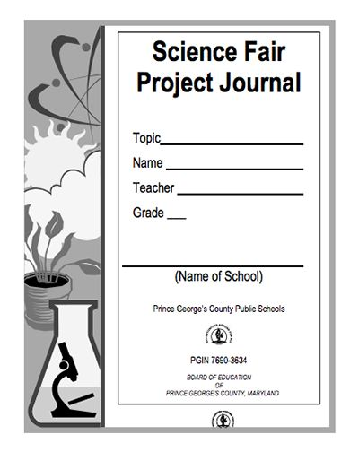 Here's a science fair project journal for students ...