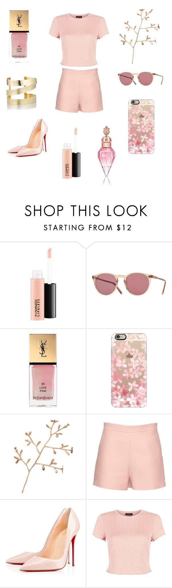 """Spring #1 🌻☀️"" by anna-miller10 ❤ liked on Polyvore featuring MAC Cosmetics, Yves Saint Laurent, Casetify, Rojo16, Valentino, Christian Louboutin, New Look and Étoile Isabel Marant"