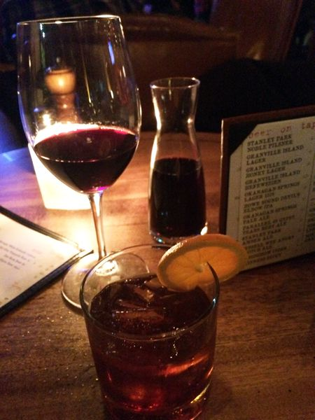 our nightcap drinks from The SandBar during our April crawl of Granville Island http://bit.ly/1dVIwjy