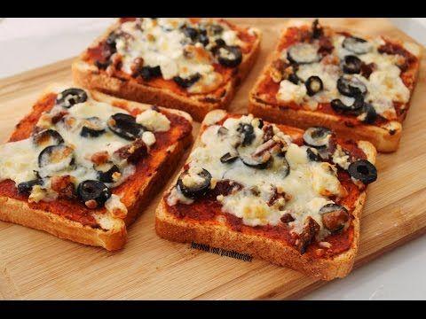 Tost Ekmeğinden Kolay Pizza Tarifi - Toastbrotpizza - YouTube