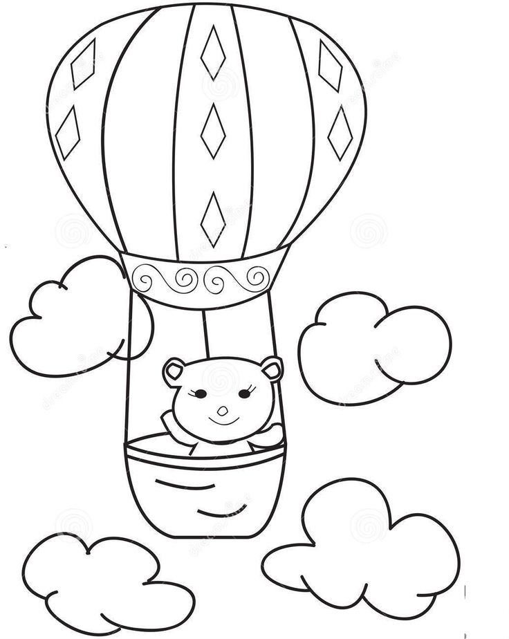 12 best Hot Air Balloons Coloring Pages images on Pinterest | Hot ...