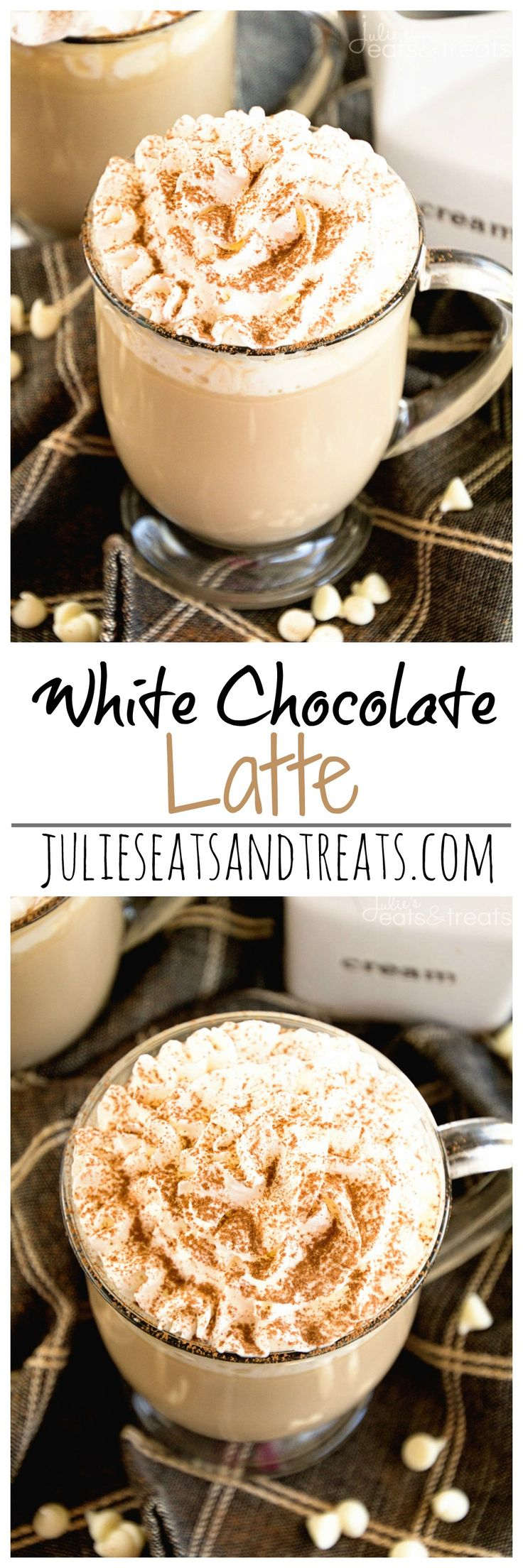 White Chocolate Latte Recipe ~ Delicious, Easy, Homemade White Chocolate Latte Recipe that Will Have You Sipping Lattes Whenever You Want! on MyRecipeMagic.com