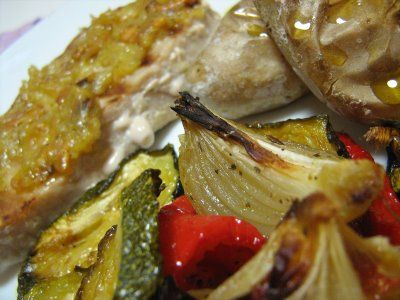 As Minhas Receitas: Bife de Atum Grelhado com Vegetais Assados e Batatinhas