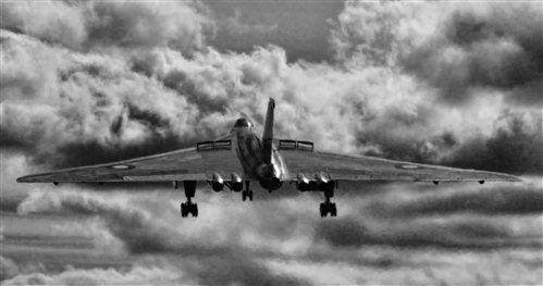 Avro Vulcan B2 XH558 under a stormy sky - Pictures & Photos on FlightGlobal Airspace