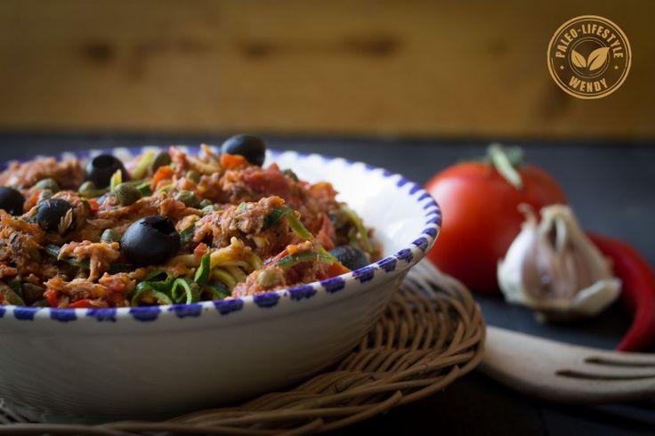 Paleo recept: Pasta-puttanesca