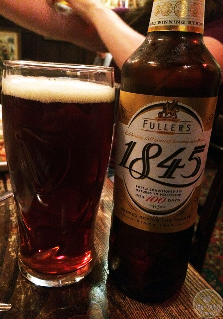 3-Jul-2015 : 1845 by Fuller, Smith & Turner. Very nice bitterness and malt flavors together in this 6.3% English Strong Ale. 500ml bottle at the Churchill Arms, with some excellent Thai food. #ottbeerdiary