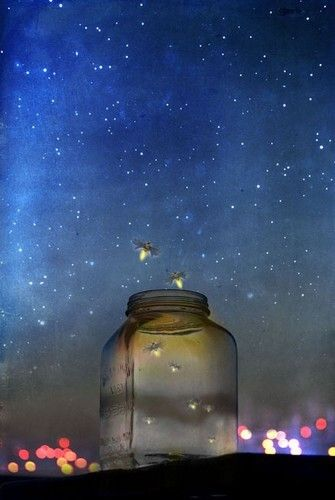 Fireflies are definitely a product of nature. And theres certainly nothing magical about jars.