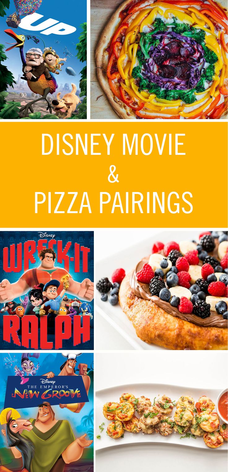 Spend a Friday night at home with two of the best things in the world: Disney movies and pizza. Included are Disney pizza recipes, from breakfast to dessert variations so you can eat it all day, every day.