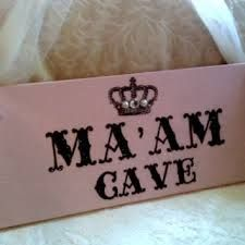 Image result for woman cave sign