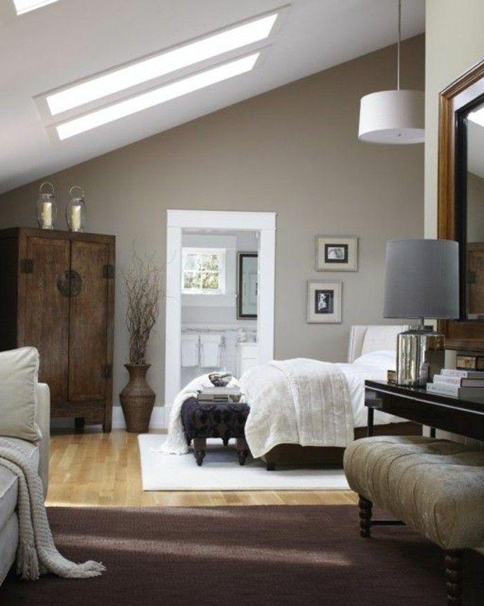 17 meilleures id es propos de plafonds en pente sur for Peinture chambre a coucher parent