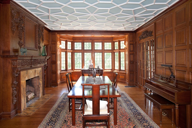 Hillside Dining Room Tracery Ceiling English Wooden