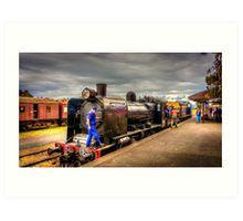 Steam Train K-190 at Maldon Station Art Print