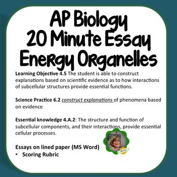 grading ap biology essays Answers must be in essay form ap biology exam essay (free response) questions ap biology exam essay (free response) questions.