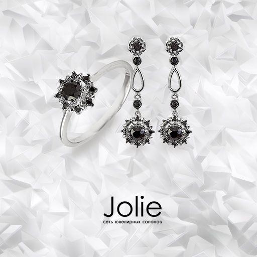 Черные бриллианты в сочетании с белым золотом выглядят особенно благородно. Эти редкие драгоценные камни стали настоящим трендом ювелирной индустрии. Подарите себе утонченную экзотику от Jolie.  Кольцоhttps://goo.gl/EdhHSB Серьгиhttps://goo.gl/XZVsIB . . . . . . . #jolie #joliegold #ювелирныеукрашения #jewerly #nnstories #nntoday #gold #nnovхэштеги #jewelrygram #jewelryaddict #jewellery #jewelery #jewelrygram #instajewelry #instatag #instagramanet #gems #gemstone #gemstones #bling…