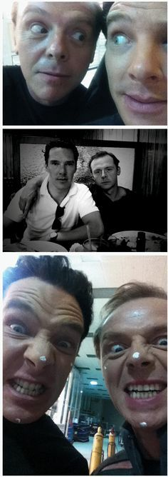 Simon Pegg and Benedict Cumberbatch. I have no words for how awesome this is.